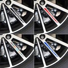 4 шт. автомобильные диски наклейки на колеса ночное видение светоотражающие декоративные наклейки для AUDI A3 A1 A4 A5 A7 A8 Q3 Q5 Q7 автомобильные аксе...
