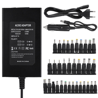 120W Home/Car Use Universal Notebook Power Supply Adapter With 34 Adjustable DC Connectors for Laptop Adapter US/EU Plug AC/DC Adapters     -