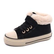 Babaya crianças algodão-acolchoado sapatos meninas botas de neve 2020 inverno novos meninos mais veludo quente moda crianças sapatos casuais