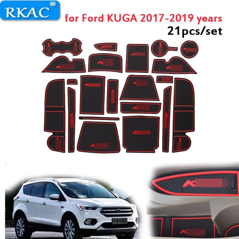 Anti Slip car door Mat Rubber mats Coaster for Ford KUGA ...