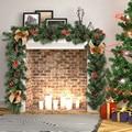 1.8 m pvc natal guirlanda artificial ornamento rattan com cones de pinho bagas decoração diy para casa festivais de natal