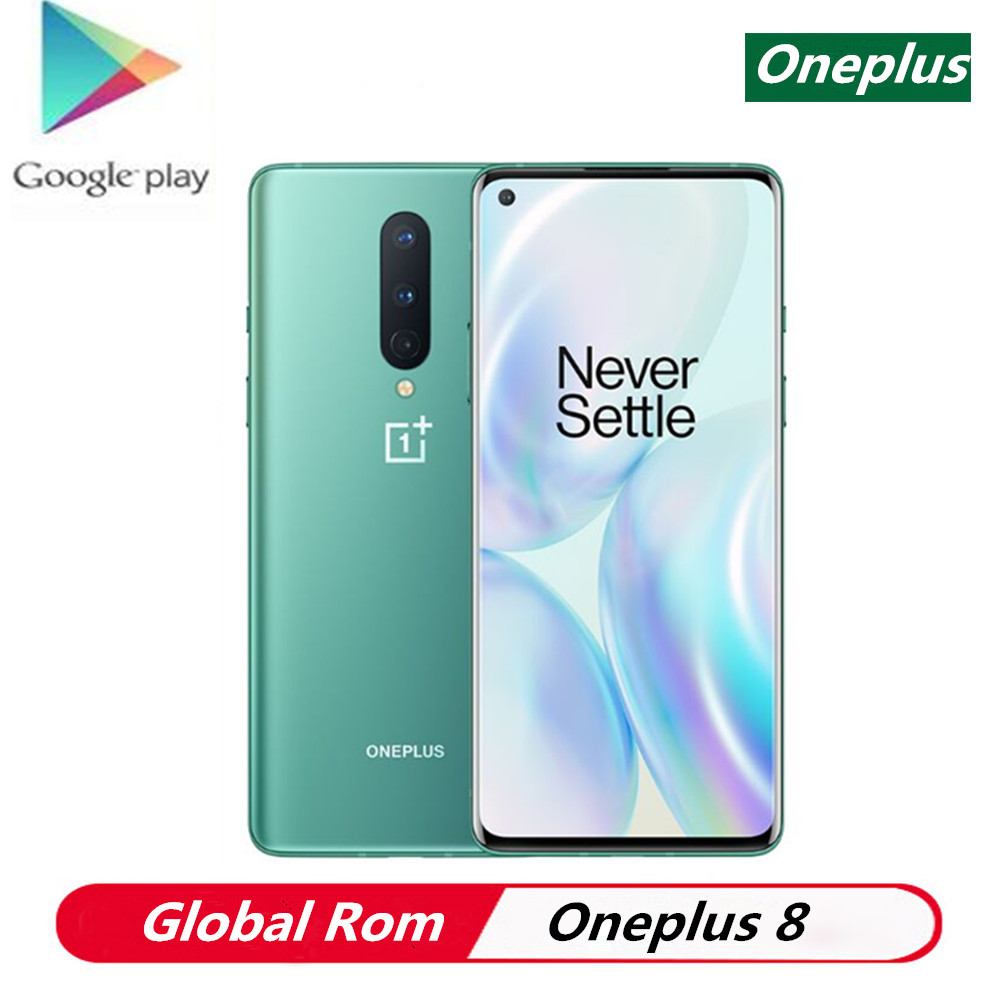 """Stock Oneplus 8 5G Smart Phone Android 10.0 6.55"""" 3120x1440 90Hz Snapdragon 865 8GB RAM 128GB ROM 30W Charger Android Phone