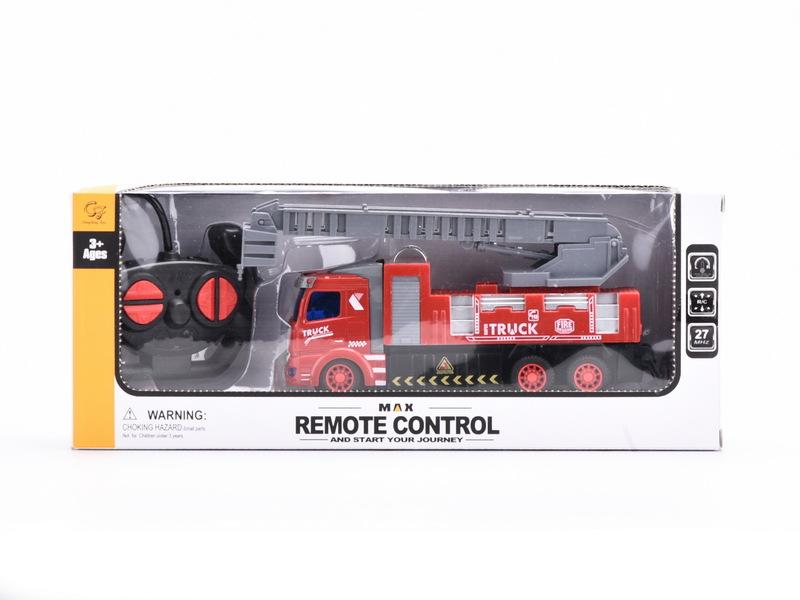 Stone Remote Control Fire Truck CHILDREN'S Toy Educational Model Car Aerial Ladder Truck Tank Car Model Stall Hot Selling