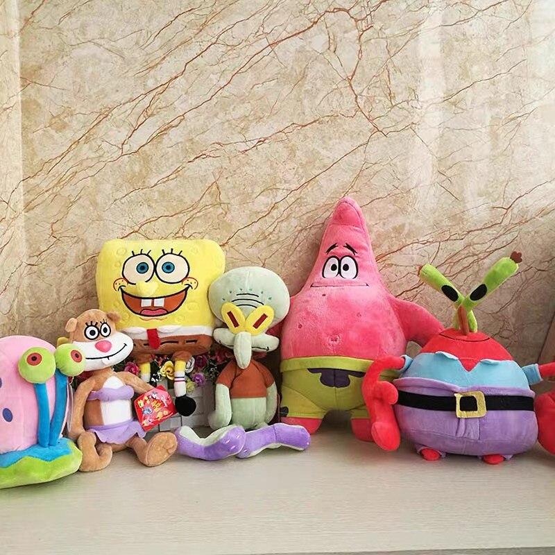 Cute SpongeBob Plush Toys SpongeBob/Patrick Star/Squidward Tentacles/Eugene/Sheldon/Gary Stuffed Doll Toys For Kids Girls