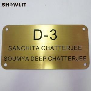 Image 1 - Placa de bronze dourada adesivos de parede decorativos/porta adesivos hotel placas da porta dormitório casa placa de endereço