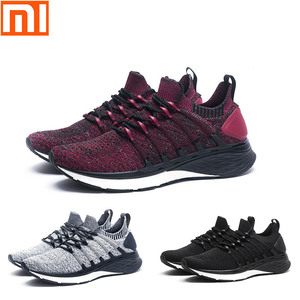 Image 2 - New Xiaomi Mijia sports shoes 4 sneakers a molding technology textile elastic knit shock absorber sole running comfort shoes 3