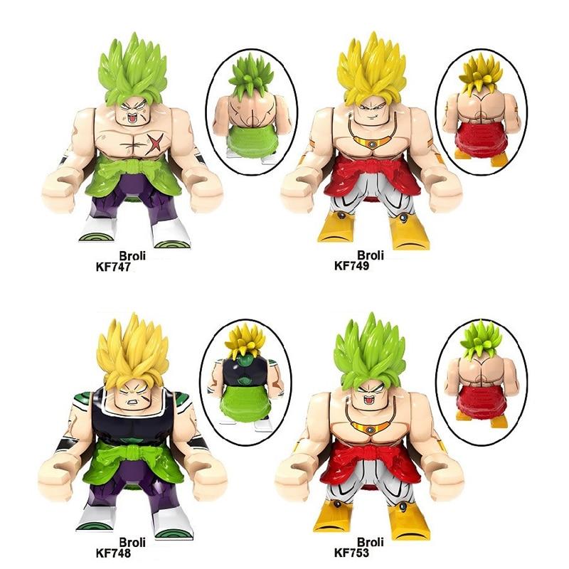 Anime DRAGON BALL Z DIY Small Building Block Super Saiyan Broli Blocks Model Education Game Graphics Children's Toys Gifts