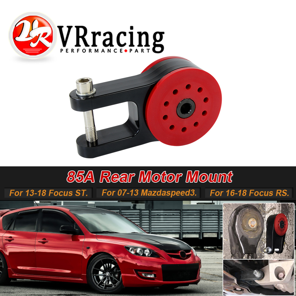 VR - 85A Polyurethane T6061 Aluminum Rear Motor Mount For 13-18 Ford Focus ST 16-18 Focus RS 07-13 Mazda Speed 3 VR-TSB06