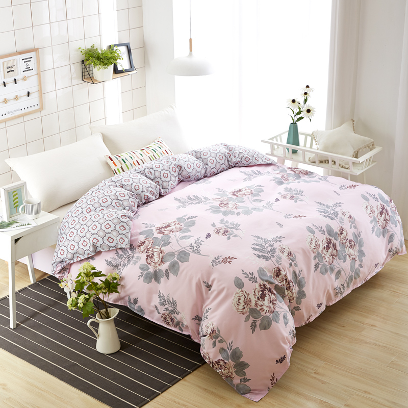 Fashion Summer Winter Flower Print Duvet Cover Double-sided AB Version Quilt Cover 180*200/200*230/220*240 Blanket Cover