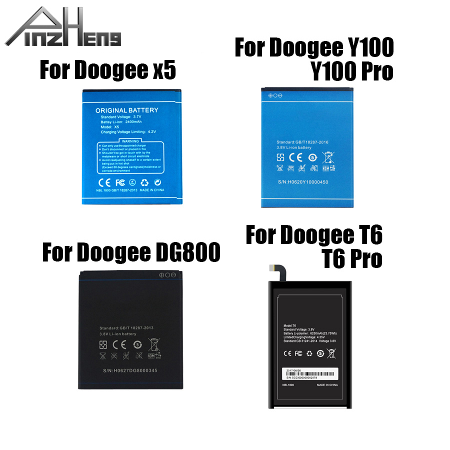 PINZHENG Mobile Phone <font><b>Battery</b></font> For <font><b>Doogee</b></font> X5 Y100 <font><b>T6</b></font> Pro DG800 High Quality Replacement <font><b>Battery</b></font> With Gift image