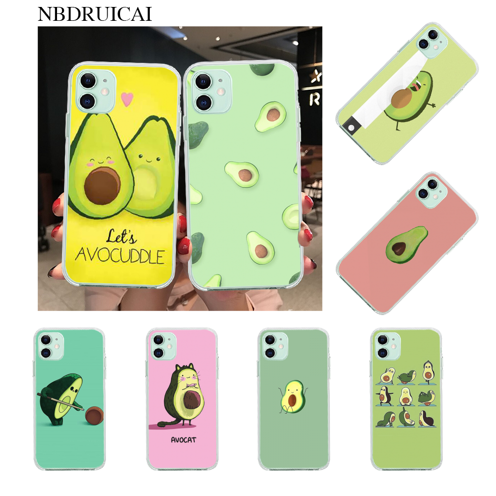 Nbdruicai Avocado Aesthetic Cute Fashion Pattern Cover Phone Case For Iphone 11 Pro Xs Max 8 7 6 6s Plus X 5s Se Xr Case Phone Case Covers Aliexpress