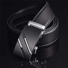 [LFMB]Famous Brand Belt Men Top Quality Genuine Luxury Leather Belts for Men Strap Male Metal Automatic Buckle cheap Adult Cowskin CN(Origin) 3 5cm Formal Solid 14121 men belt male genuine leather strap Belts Cummerbunds