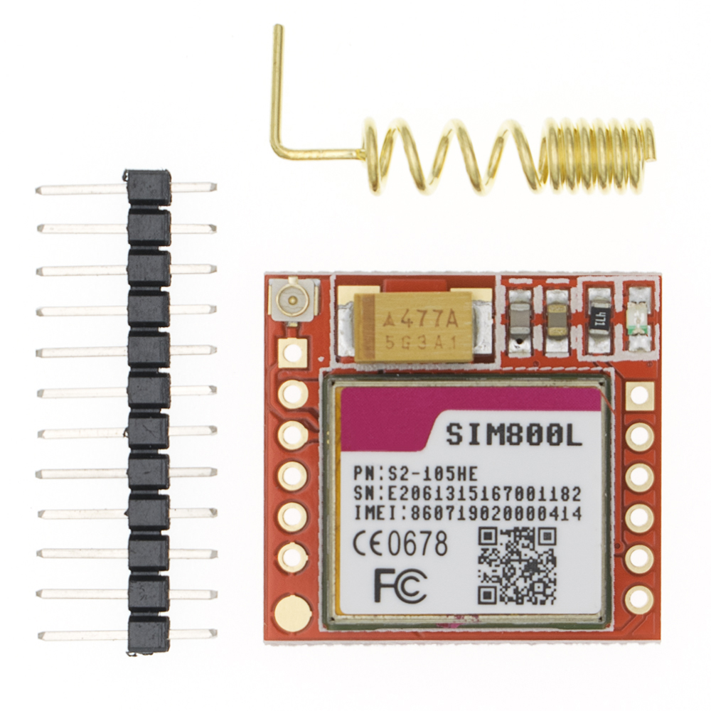 Mini Smallest SIM800L GPRS GSM Module MicroSIM Card Core Wireless Board Quad-band TTL Serial Port With Antenna