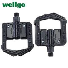Wellgo F265 F268 מתקפל אופניים דוושות MTB הרי אופני Padel אלומיניום מקופל דוושת אופניים חלקים