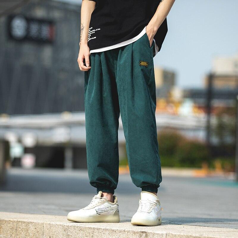 2020 Spring Autumn Men Ankle-length Pants Pants Mens Casual Hip Hop Safari Style Joggers Male High Street Trousers