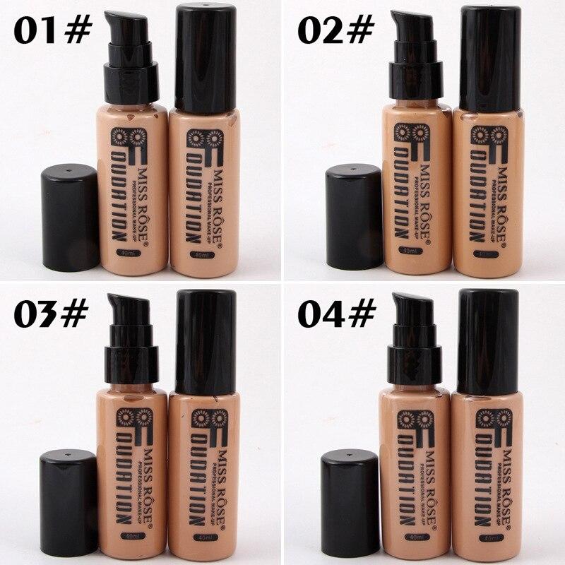 Corrector Nude Natural cara líquido Fundación primer maquillaje de belleza crema hidratante líquido de la cubierta completa corrector Facial Base de la Fundación - 5