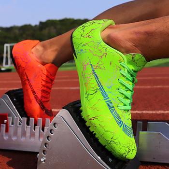 2021 lekkoatletyka kolce buty do biegania męskie kampusowe buty sprintowe lekkoatletyka sportowe buty profesjonalne trampki przeszkodowe tanie i dobre opinie Thestron CN (pochodzenie) Cotton Fabric Hard court Masaż Średnie (b m) RUBBER Ptpp Lace-up Spring2019 Pasuje prawda na wymiar weź swój normalny rozmiar