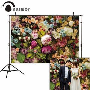 Image 2 - Allenjoy פרח רוז רקע חתונת mariage האהבה יום 14 פברואר כלה מקלחת פוליאסטר סטודיו צילום רקע
