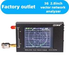 Весны 2,8 дюймов прикосновения Экран 50 кГц-3 ГГц вектор сетевой анализатор HF VHF Любительская рация антенна анализатор измерительный черный ...