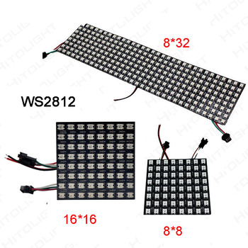 цена на Wholesale led strip Screen WS2812B Panel Screen;8*8/16*16/8*32 Pixel DC5V Full Color 256 Pixels Digital Programmed Addressable