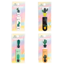 1 Set Fresh Cactus Magnetic Bookmarks Books Marker Of Page Student Stationery School Office Supply vihma page 1