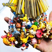 Pokemon chaveiro pikachu figura de ação japonês série pokemon elf crianças brinquedo presentes natal diy chaveiro
