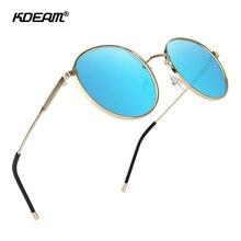 KDEAM Vintage Design Round Sunglasses Polarized UV400 Protection Shades for Men and Women Circle Retro Sun Glasses