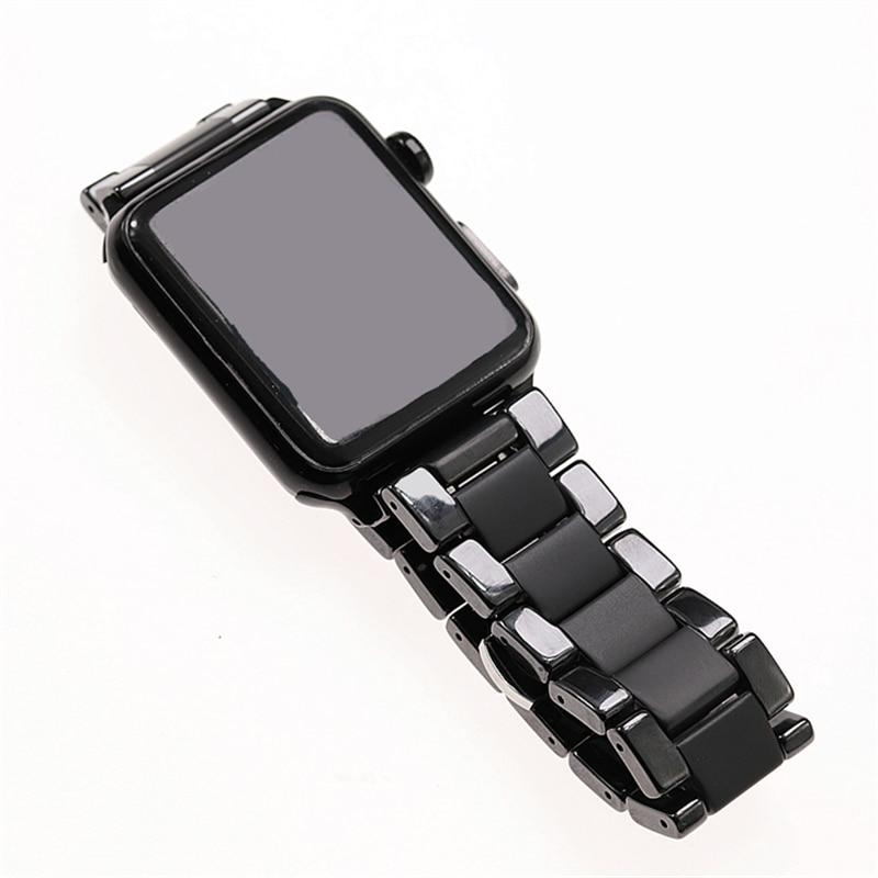 New Ntyle Ceramic Sandblasting Matte Sport  I Watch Bands Apple Watch Band 42mm 38mm 40mm Apple Watch Series3 4 44mm Matt Strap