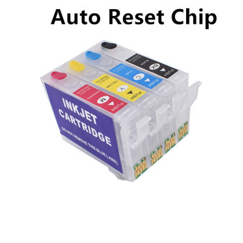 603XL 603 wielokrotnego napełniania pojemnika z tuszem auto Chip resetu dla Epson XP-4100 XP-4105 WorkForce WF-2810 WF-2830 WF-2835 WF-2850 tanie i dobre opinie BLOOM Pusty 603 xl refillable ink cartirdge Kompatybilny Wkład atramentowy C M Y K