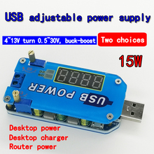 15 Вт регулируемый DC-DC CC CV USB 5 В до 3,3 В 9 в 12 В 24 в 30 в повышающий/понижающий модуль питания Регулируемый повышающий понижающий преобразователь