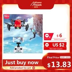 AEO Fun S9HW Mini Drone con cámara HD S9 No Cámara plegable RC Quadcopter altura mantener helicóptero WiFi FPV Micro Drone de bolsillo