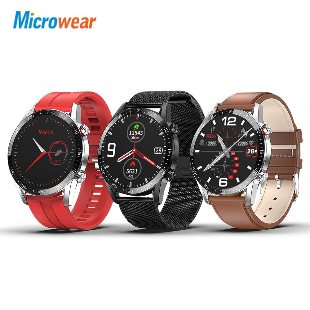 Microwear L13 Smart Watch For Men ECG+PPG IP68 Waterproof Bluetooth Call Blood Pressure Heart Rate Fitness Sports Smartwatch