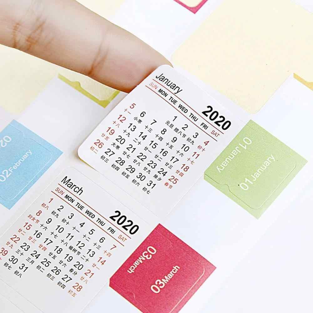 לוח שנה מדבקות למתכננים, מחברות, כתבי עת, 2019-2020 מתכנני חודשי מדד כרטיסיות, 15-חודשים (2019.10-2020.12)