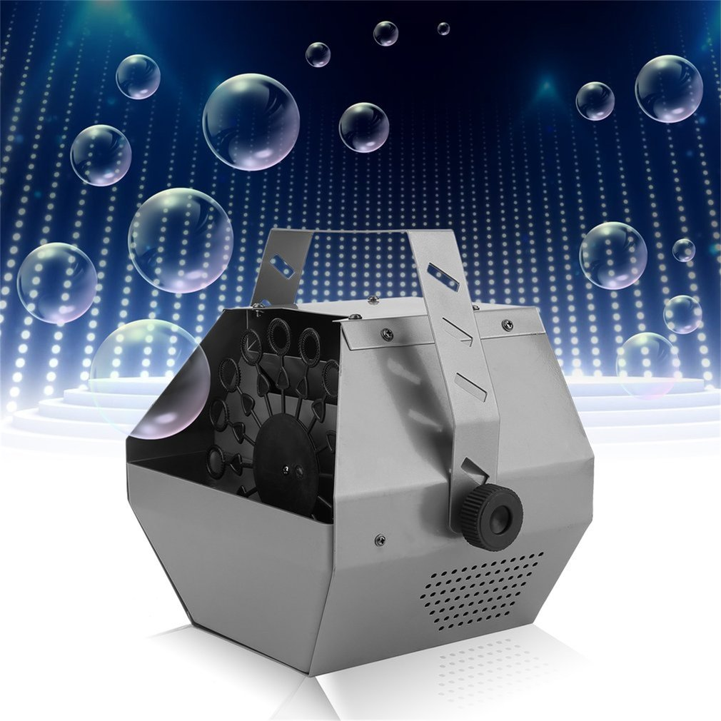Automatic Mini Magic Bubble Making Machine Blower Maker Kids DJ Disco Dancing Wedding Party Outdoor Indoor Stage Metal Case