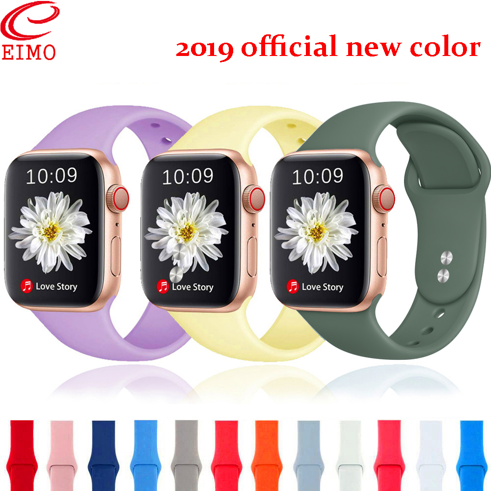 Silicone Strap For Apple Watch Band Apple Watch 4 Band 44mm 40mm 5 3 Iwatch Band 42mm 38mm Bracelet Watchband Watch Accessory