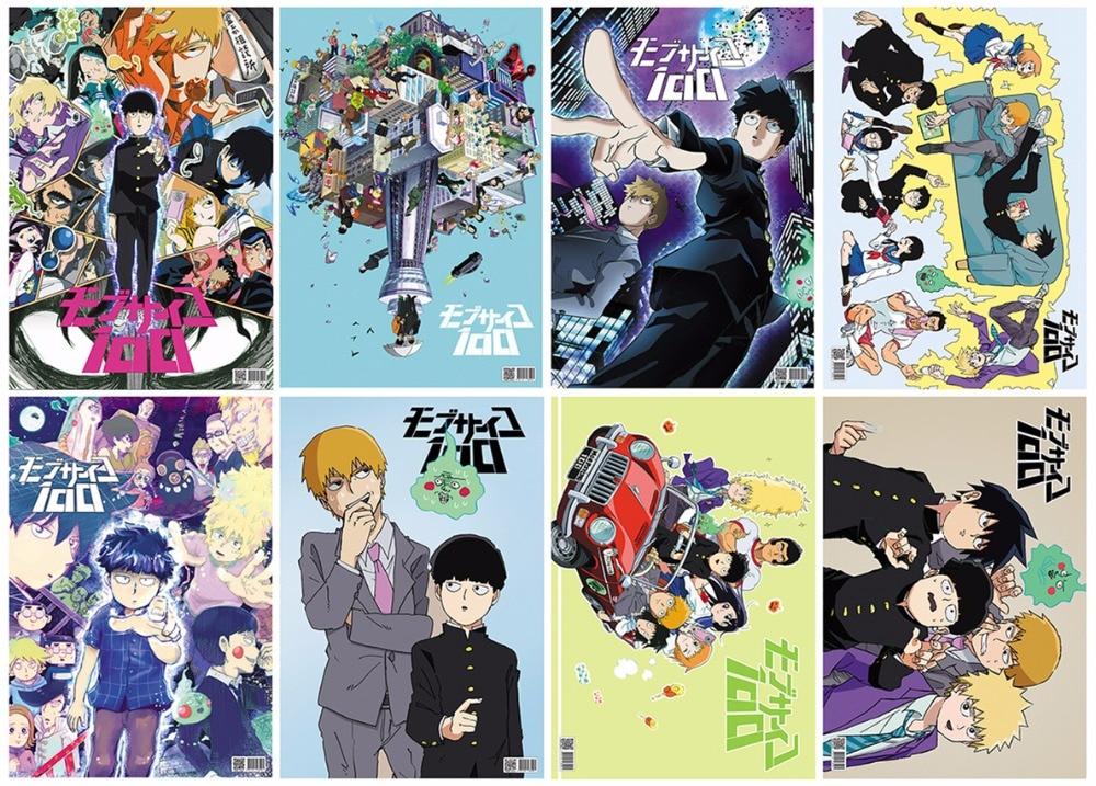 8 teile satz anime mob psycho 100 prage poster spielzeug grosse 42x29 cm fur geschenke