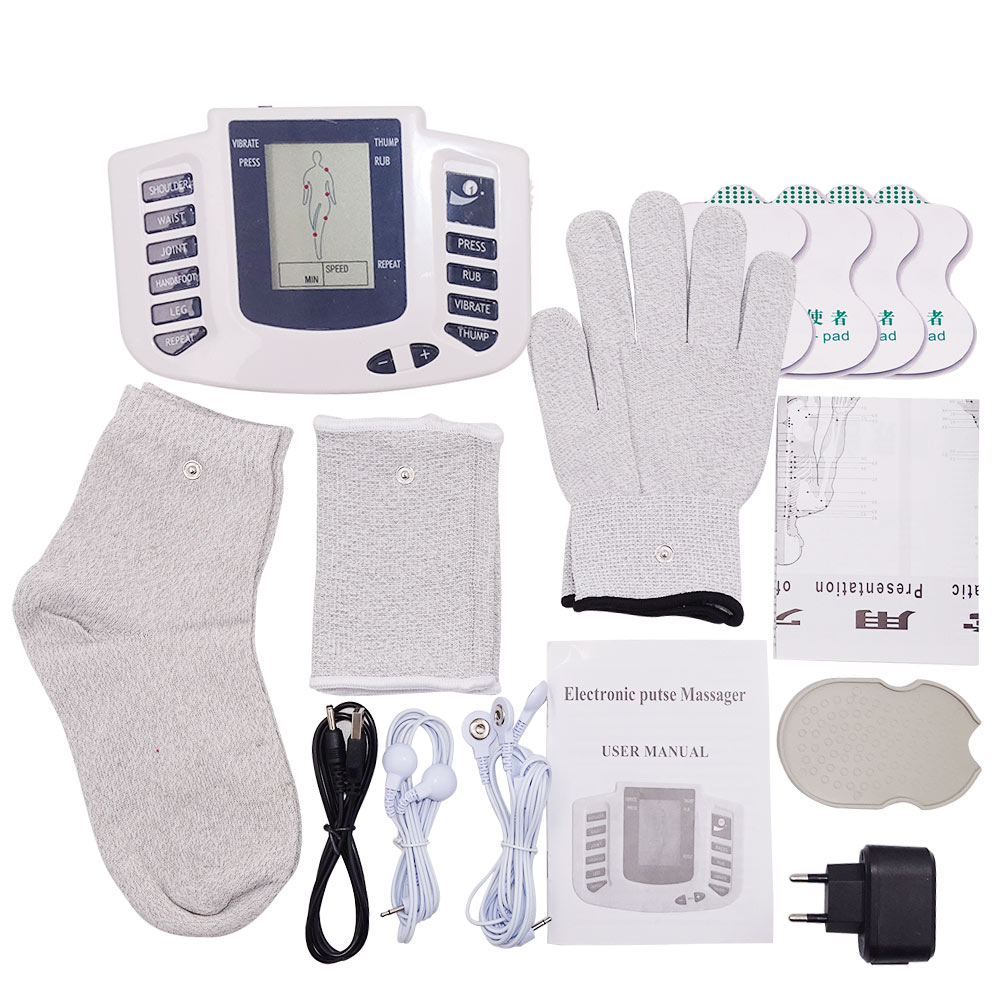 12 Buttons Electric herald Tens Muscle Stimulator Ems Acupuncture Body Massage Digital Therapy Machine Electrostimulator 6