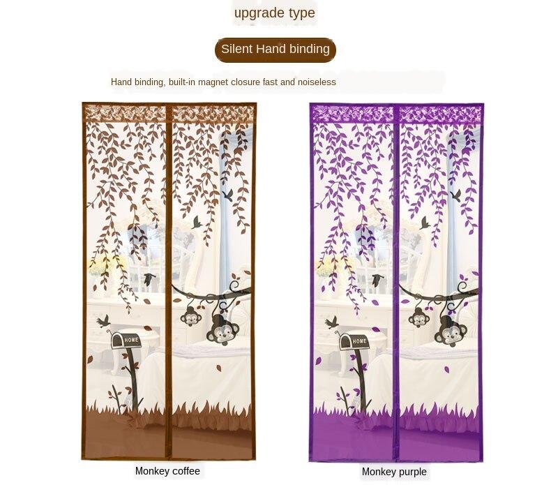 Velcro anti-mosquito gaze porta cortina magnética do
