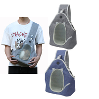 Mochila portamascotas transpirable para perros y gatos, bolsa de hombro para caminar, deportes al aire libre, mascotas pequeñas