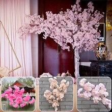120Cm Lange Künstliche Kirschblüten Blume Seide Kirschblüte Künstliche Blume Hintergrund Hochzeit Party Dekoration Reben