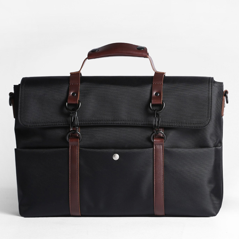 Waterproof Men Business Briefcases Male Crossbody Shoulder Bag Nylon Laptop Messenger Bags Simple Travel Casual Handbags XA636ZC