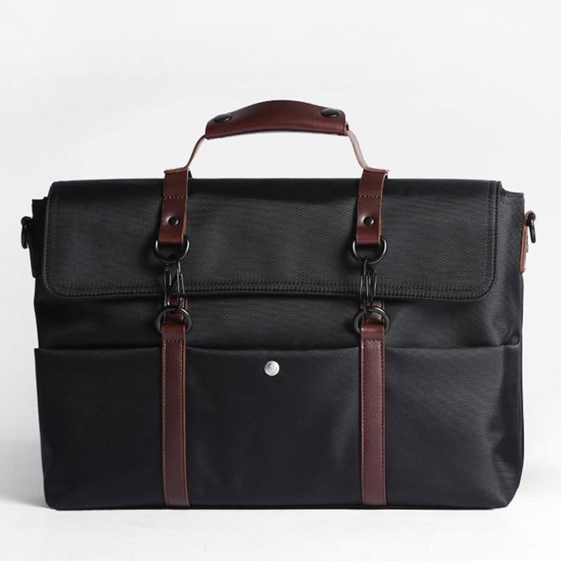 Waterproof Men Business Briefcases Male Crossbody Shoulder Bag Nylon Laptop Messenger Bags Simple Travel Casual Handbags XA636ZC