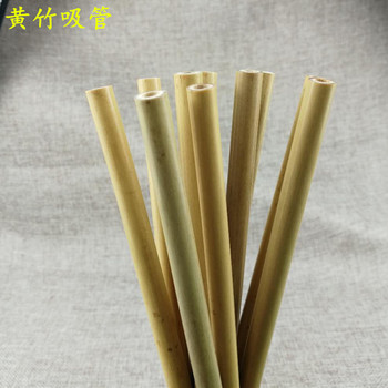 4 or6PCS Natural Bamboo Straw Set Eco Friendly Bamboo Straw Reusable Drinking Straws with Straw Case Clean Brush 8 or 9inches 2
