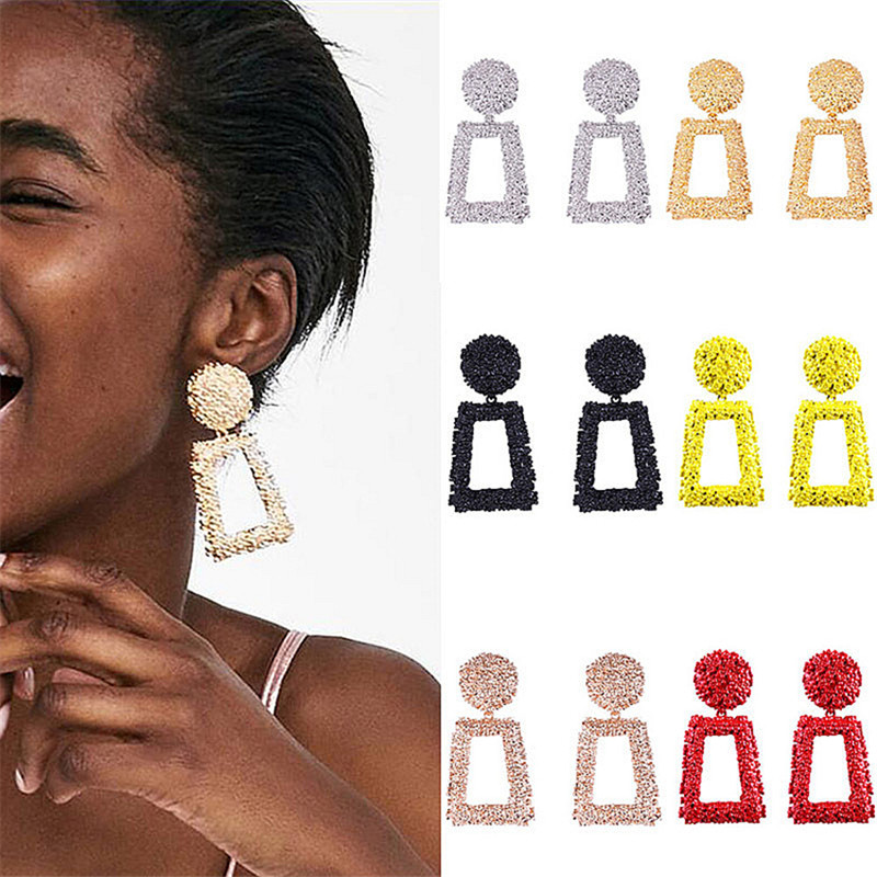 Fashion Statement Earrings2019 Big Geometric Round Earrings For Women Hanging Dangle Earrings Drop Earring Modern Female Jewelry