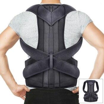 Neoprene Deluxe Full Back Posture Corrector Brace Belt Therapy Women Men Support Steel Plate