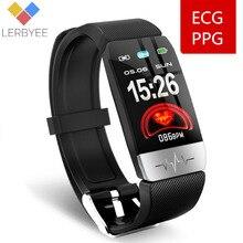 Lerbyee novo t1s esporte relógio inteligente ecg + ppg masculino feminino relógio de fitness controle música chamada lembrete smartwach esporte venda quente 2020