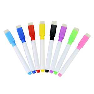 Whiteboard-Brush Erasable Magnetic Pen-Markers Refill-Board with Suction-Color for Students