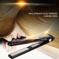 Iron Keratin Argan Oil Recover Hair Damaged Smoothly Ultrasonic Infrared Hair Care Iron LCD Display Hair Treatment
