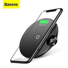 Baseus V/A LED Display Qi Wireless Charger For iPhone Xs Max XR X 8 Plus Fast Desktop Wirless Charging Pad For Samsung Note 9 8