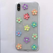 Three-dimensional Elegant Flower 3D Cases For Apple iPhone XR X XS Max 6 6S 7 8 Plus Girl Cute Phone Case NEW Fashion